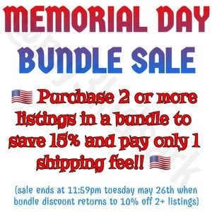 Other - 🇺🇸🇺🇸🎀👟 Memorial Day Bundle Sale!!! 🇺🇸🇺🇸
